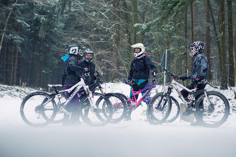 Mountainbike Kurse im Schnee