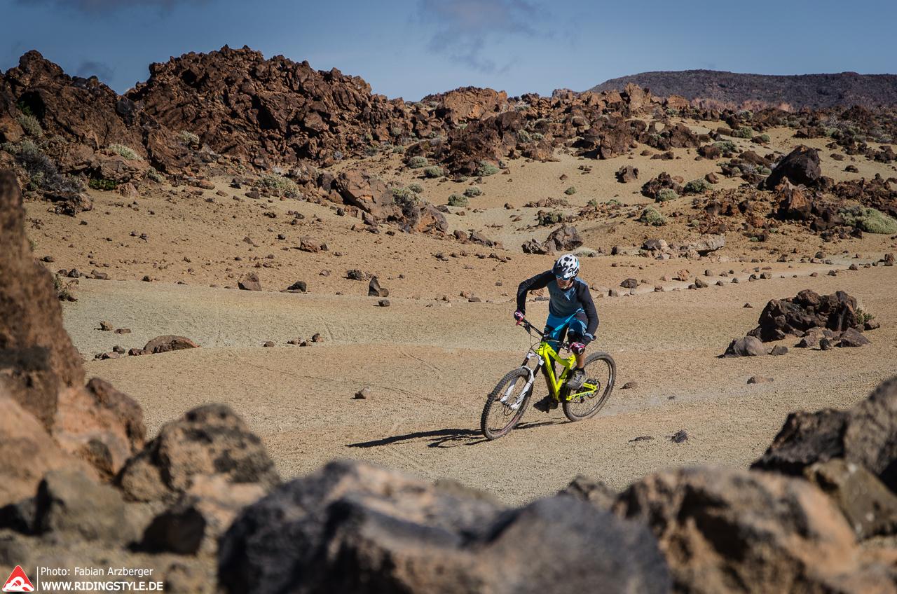 Vulkan-Biken auf Teneriffa